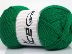 Lot of 4 x 100gr Skeins Ice Yarns DORA Hand Knitting Yarn Emerald Green