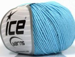 Lot of 4 Skeins Ice Yarns ORGANIC BABY COTTON (100% Organic Cotton) Yarn Baby Blue