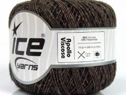 Lot of 6 Skeins Ice Yarns APOLLO VISCOSE (90% Viscose) Hand Knitting Yarn Brown
