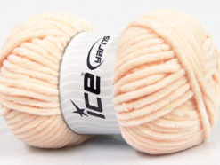 Lot of 4 x 100gr Skeins Ice Yarns CHENILLE BABY (100% MicroFiber) Yarn Light Salmon