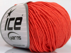 Lot of 4 Skeins Ice Yarns ORGANIC BABY COTTON (100% Organic Cotton) Yarn Salmon
