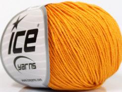 Lot of 4 Skeins Ice Yarns ORGANIC BABY COTTON (100% Organic Cotton) Yarn Gold