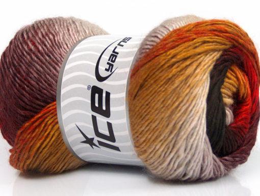Lot of 4 x 100gr Skeins Ice Yarns PRIMADONNA (50% Wool) Yarn Red Black Maroon Gold
