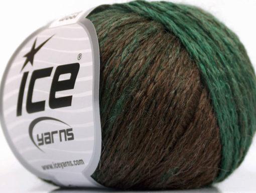 Lot of 8 Skeins Ice Yarns SOFT CHAIN WOOL (30% Wool) Yarn Brown Green