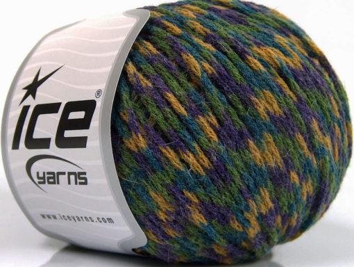 Lot of 8 Skeins Ice Yarns FIREWORKS (40% Wool) Yarn Purple Blue Cafe Latte
