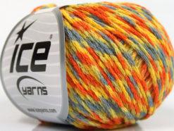 Lot of 8 Skeins Ice Yarns FIREWORKS (40% Wool) Yarn Light Blue Yellow Orange Green