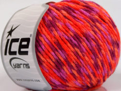 Lot of 8 Skeins Ice Yarns FIREWORKS (40% Wool) Yarn Purple Lilac Orange Fuchsia