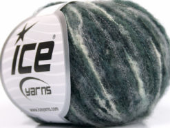Lot of 10 Skeins Ice Yarns SALE WINTER (34% Wool) Yarn White Grey Shades