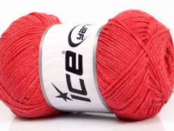 Lot of 4 x 100gr Skeins Ice Yarns NATURAL COTTON AIR (100% Cotton) Yarn Salmon