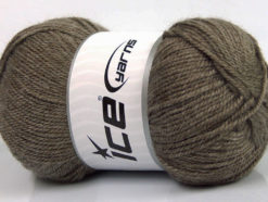 Lot of 4 x 100gr Skeins Ice Yarns DORA Hand Knitting Yarn Dark Camel