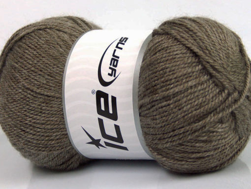 Lot of 4 x 100gr Skeins Ice Yarns DORA Hand Knitting Yarn Dark Camel