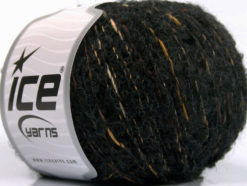 Lot of 8 Skeins Ice Yarns BOLOGNA LANA (25% Wool 48% Cotton) Yarn Anthracite Brown Shades