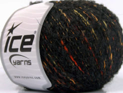 Lot of 8 Skeins Ice Yarns BOLOGNA LANA (25% Wool 48% Cotton) Yarn Anthracite Orange Gold Yellow