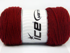 Lot of 2 x 200gr Skeins Ice Yarns SAVER Hand Knitting Yarn Dark Red
