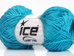 Lot of 8 Skeins Ice Yarns FETTUCCIA FINE Hand Knitting Yarn Turquoise
