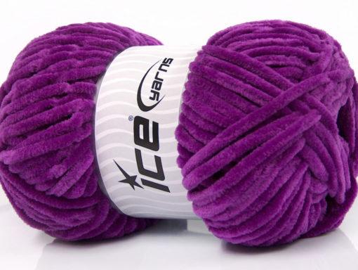 Lot of 4 x 100gr Skeins Ice Yarns CHENILLE BABY (100% MicroFiber) Yarn Purple