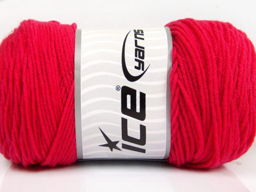 Lot of 2 x 200gr Skeins Ice Yarns SAVER Hand Knitting Yarn Candy Pink