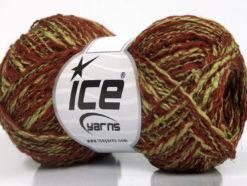 Lot of 8 Skeins Ice Yarns DOPPIO LANA (44% Wool) Yarn Copper Light Khaki