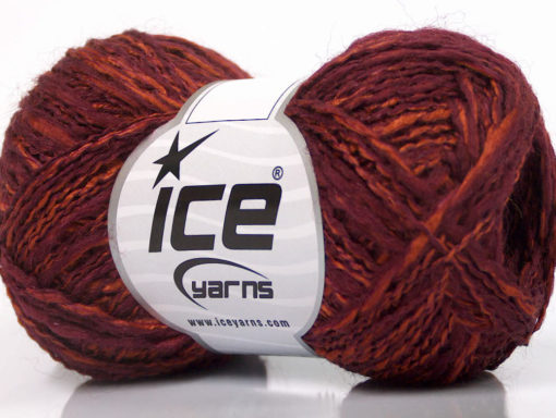 Lot of 8 Skeins Ice Yarns DOPPIO LANA (44% Wool) Yarn Maroon Copper