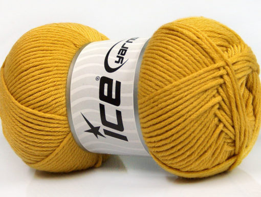 Lot of 3 x 100gr Skeins Ice Yarns BABY COMFORT Hand Knitting Yarn Gold