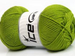 Lot of 3 x 100gr Skeins Ice Yarns BABY COMFORT Hand Knitting Yarn Green