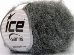 Lot of 10 Skeins Ice Yarns GENIUS MOHAIR (21% Mohair 13% Wool) Yarn Dark Grey