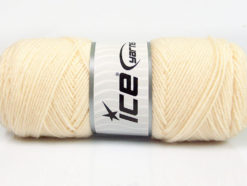 Lot of 4 x 100gr Skeins Ice Yarns BONITO (50% Wool) Hand Knitting Yarn Cream
