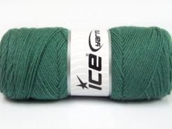 Lot of 4 x 100gr Skeins Ice Yarns BONITO (50% Wool) Yarn Sea Green