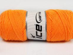 Lot of 4 x 100gr Skeins Ice Yarns BONITO (50% Wool) Hand Knitting Yarn Orange