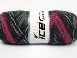 Lot of 4 x 100gr Skeins Ice Yarns BONITO ETHNIC (50% Wool) Yarn Grey Shades Pink