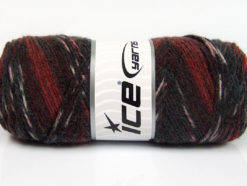 Lot of 4 x 100gr Skeins Ice Yarns BONITO ETHNIC (50% Wool) Yarn Grey Shades Burgundy Maroon
