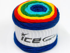Lot of 2 x 200gr Skeins Ice Yarns CAKES ARAN Yarn Green Turquoise Blue Red Yellow