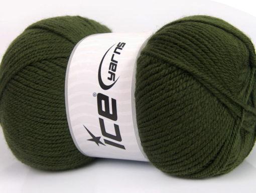 Lot of 4 x 100gr Skeins Ice Yarns GONCA Hand Knitting Yarn Dark Khaki