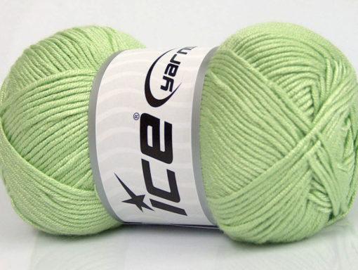 Lot of 4 x 100gr Skeins Ice Yarns BAMBOO SOFT (50% Bamboo) Yarn Mint Green