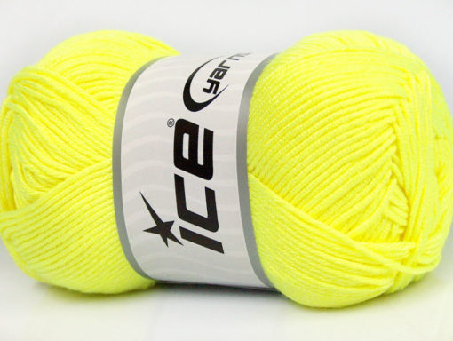 Lot of 4 x 100gr Skeins Ice Yarns BAMBOO SOFT (50% Bamboo) Yarn Neon Green
