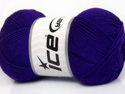 Lot of 4 x 100gr Skeins Ice Yarns BAMBOO SOFT (50% Bamboo) Yarn Purple