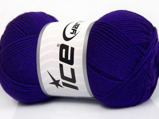Lot of 4 x 100gr Skeins Ice Yarns BAMBOO SOFT (50% Bamboo) Yarn Purple