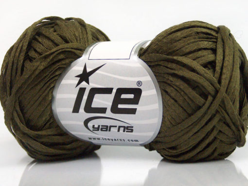 Lot of 8 Skeins Ice Yarns VIOLINO Hand Knitting Yarn Khaki
