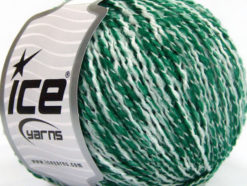 Lot of 8 Skeins Ice Yarns FLORIDA LANA (20% Wool) Yarn Green White