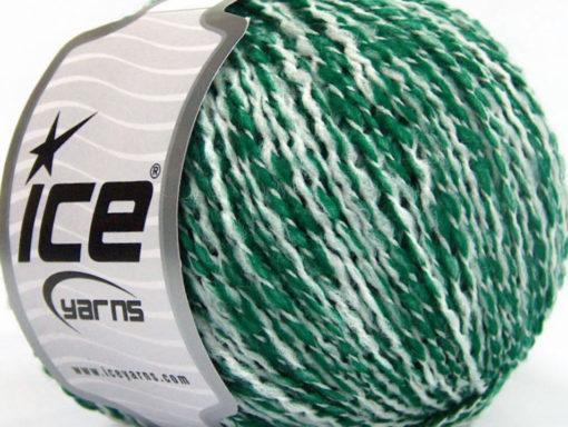 Lot of 8 Skeins Ice Yarns FLORIDA LANA (20% Wool) Yarn Green White