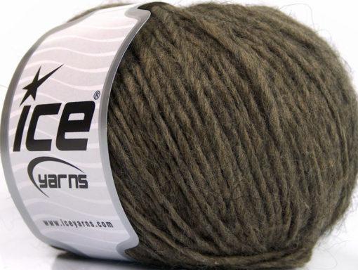 Lot of 8 Skeins Ice Yarns WOOL CORD ARAN (50% Wool) Yarn Dark Camel