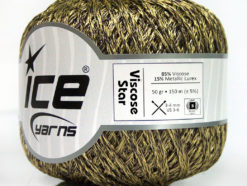 Lot of 6 Skeins Ice Yarns VISCOSE STAR (85% Viscose) Yarn Light Olive Green Brown
