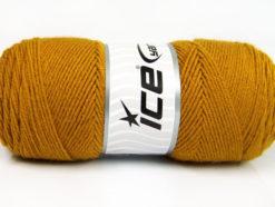 Lot of 4 x 100gr Skeins Ice Yarns BONITO (50% Wool) Hand Knitting Yarn Gold