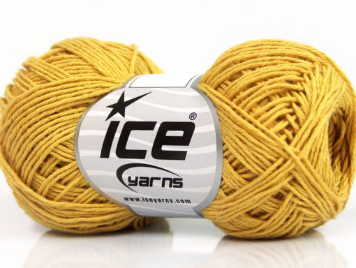 Lot of 8 Skeins Ice Yarns NATURAL COTTON FINE (100% Cotton) Yarn Gold