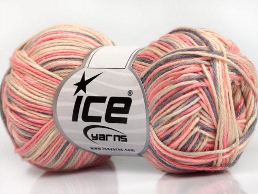 Lot of 8 Skeins Ice Yarns RIMINI COLOR Yarn Pink Shades Grey Cream