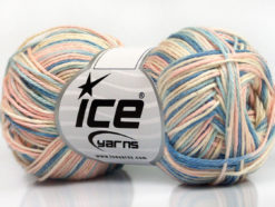 Lot of 8 Skeins Ice Yarns RIMINI COLOR Yarn Light Pink Cream Blue Shades