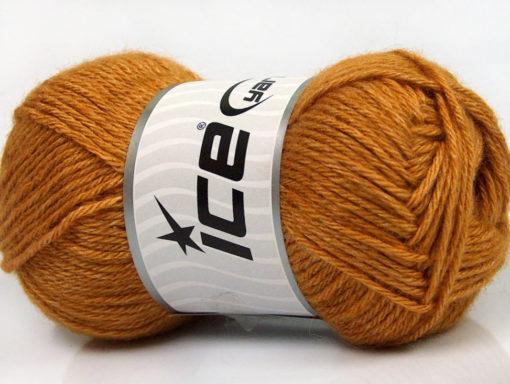 Lot of 4 Skeins Ice Yarns SILK MERINO DK (35% Silk 65% Merino Wool) Yarn Gold