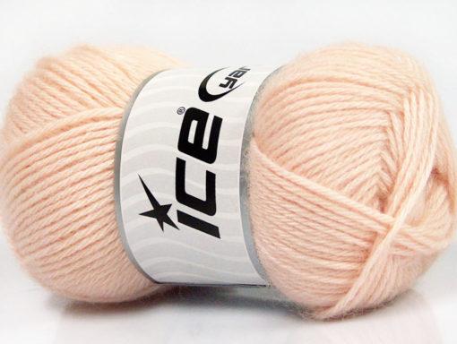 Lot of 4 Skeins Ice Yarns SILK MERINO DK (35% Silk 65% Merino Wool) Yarn Light Salmon