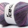 Lot of 4 x 100gr Skeins Ice Yarns ANGORA ACTIVE (25% Angora) Yarn Purple Shades Lilac Pink