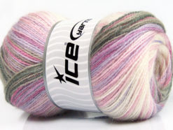 Lot of 4 x 100gr Skeins Ice Yarns ANGORA ACTIVE (25% Angora) Yarn Grey Pink Lilac Cream